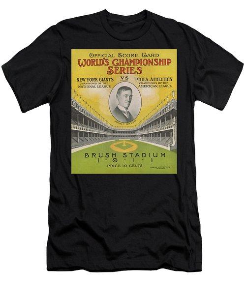 1911 World Series Score Card Men's T-Shirt (Athletic Fit)