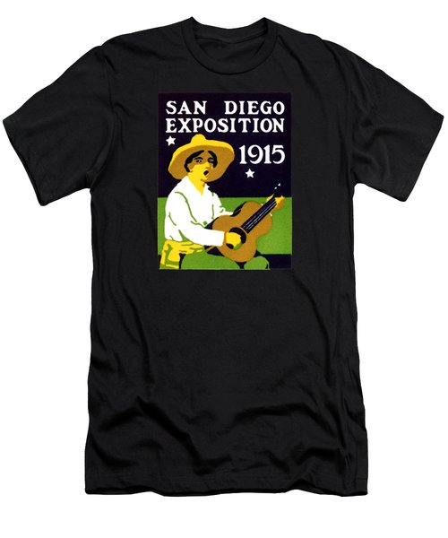 1915 San Diego Expo Poster 2 Men's T-Shirt (Slim Fit) by Historic Image