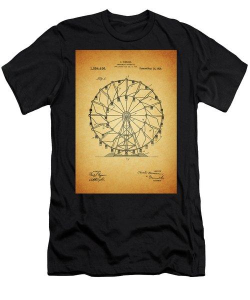 1920 Ferris Wheel Patent Men's T-Shirt (Athletic Fit)
