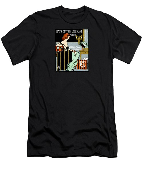 1920 Hats Of The Unusual Sort Men's T-Shirt (Slim Fit) by Historic Image