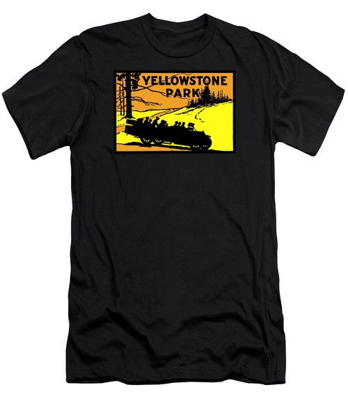 1920 Yellowstone Park Men's T-Shirt (Slim Fit) by Historic Image