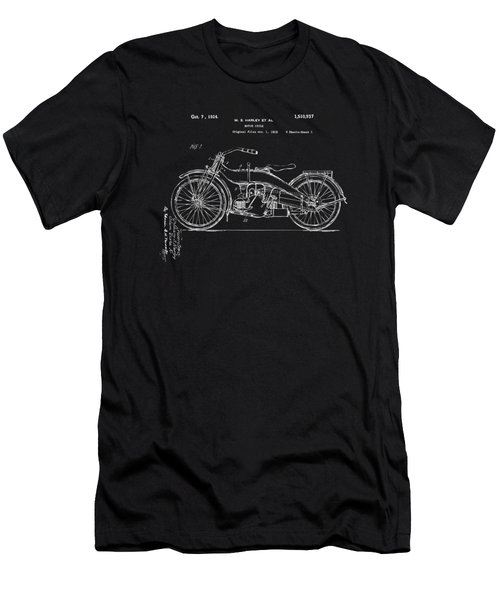 1924 Harley Motorcycle Patent Artwork Blueprint Men's T-Shirt (Athletic Fit)