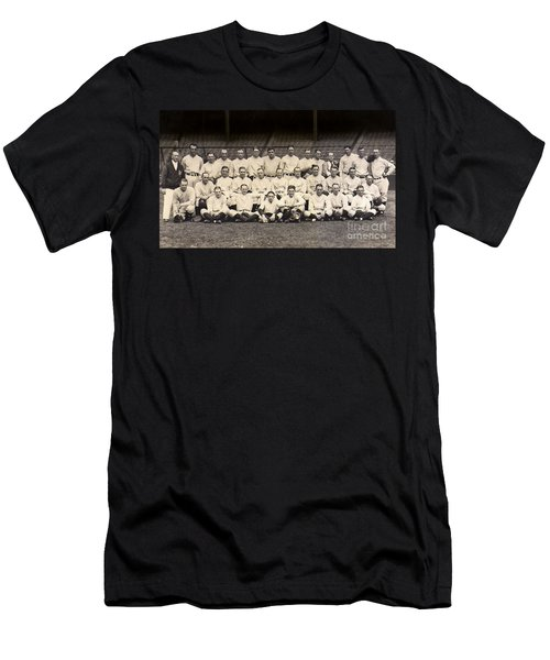 1926 Yankees Team Photo Men's T-Shirt (Slim Fit) by Jon Neidert