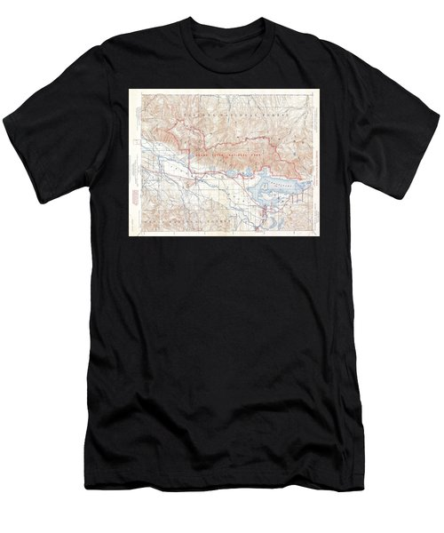 1929 Usgs Map Of Grand Teton National Park Wyoming  Men's T-Shirt (Athletic Fit)