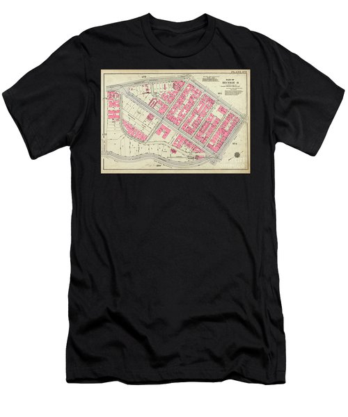 1930 Inwood Map  Men's T-Shirt (Athletic Fit)