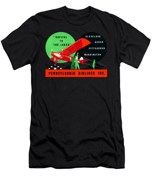 1930 Penn Airlines Poster Men's T-Shirt (Athletic Fit)