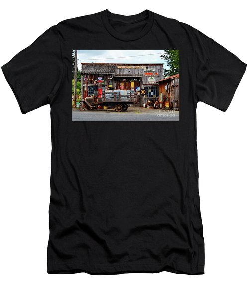 1930s Gas Station And Garage Men's T-Shirt (Athletic Fit)
