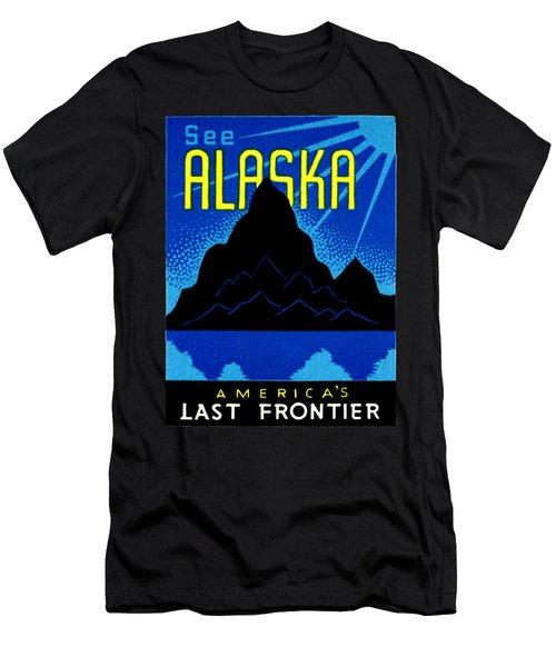 1935 See Alaska Poster Men's T-Shirt (Athletic Fit)