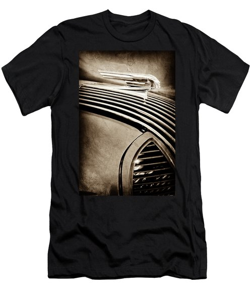 Men's T-Shirt (Slim Fit) featuring the photograph 1936 Pontiac Hood Ornament -1140s by Jill Reger