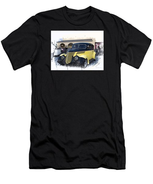 1937 Ford Deluxe Sedan_a2 Men's T-Shirt (Athletic Fit)