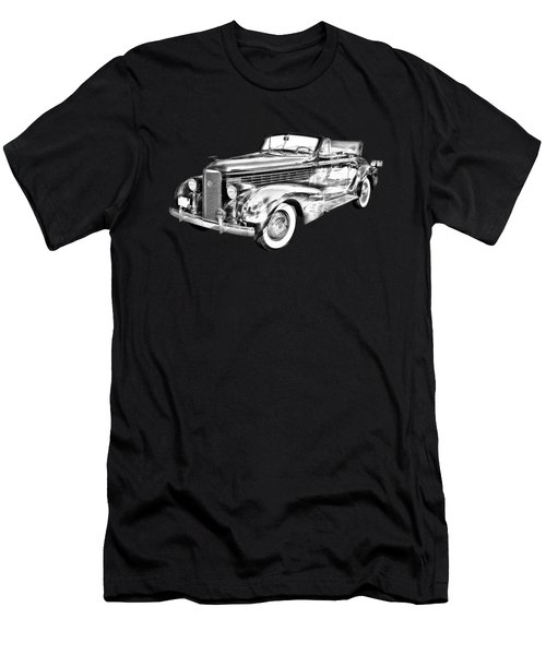 1938 Cadillac Lasalle Illustration Men's T-Shirt (Athletic Fit)