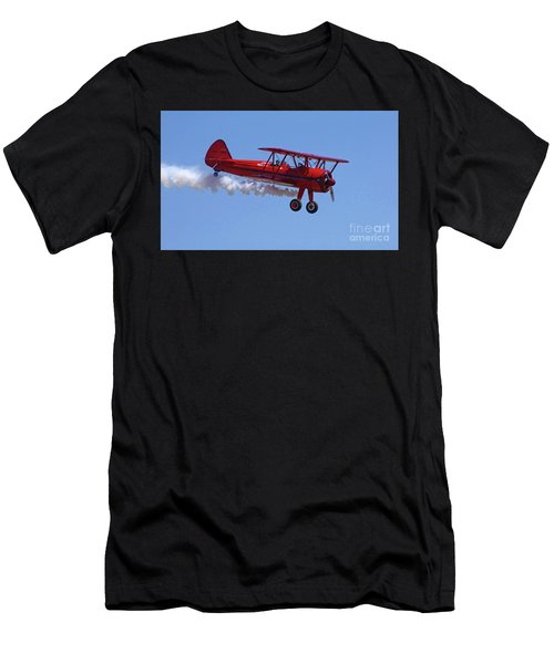 1940 Boeing Stearman Biplane Flyby Men's T-Shirt (Athletic Fit)