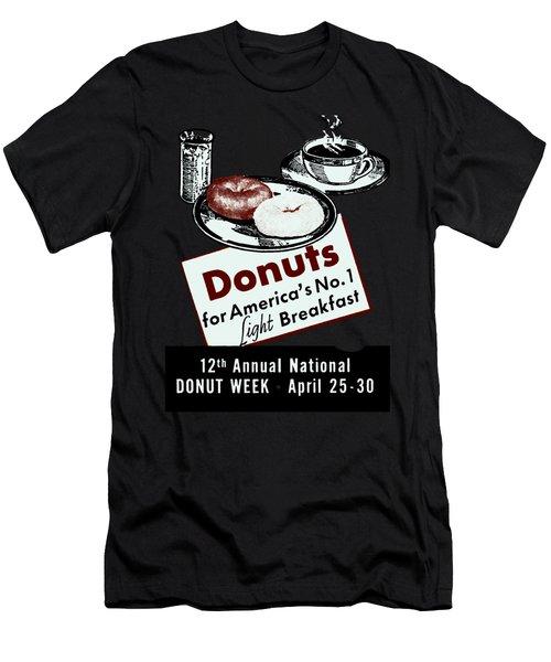 1940 Donut Poster Men's T-Shirt (Athletic Fit)