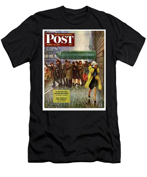 1947 Saturday Evening Post Magazine Cover Men's T-Shirt (Athletic Fit)