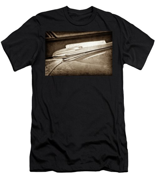 Men's T-Shirt (Slim Fit) featuring the photograph 1948 Chevrolet Hood Ornament -0587s by Jill Reger