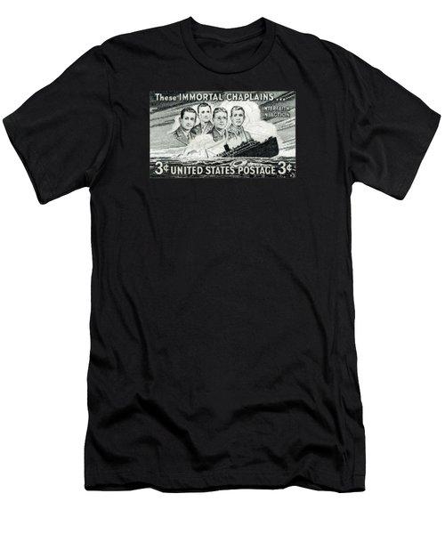 1948 Immortal Chaplains Stamp Men's T-Shirt (Slim Fit) by Historic Image