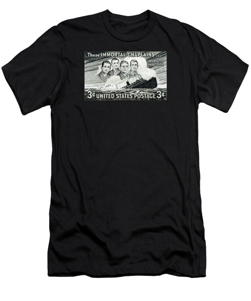 1948 Immortal Chaplains Stamp Men's T-Shirt (Athletic Fit)