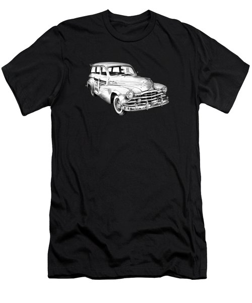 1948 Pontiac Silver Streak Woody Illustration Men's T-Shirt (Athletic Fit)
