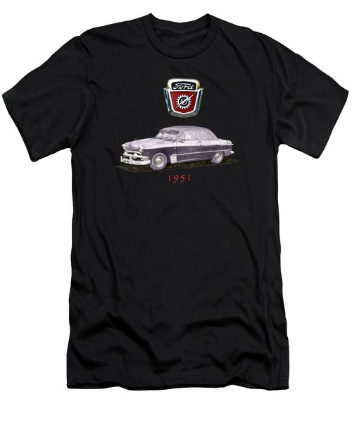 1951 Ford Two Door Sedan Tee Shirt Art Men's T-Shirt (Slim Fit) by Jack Pumphrey