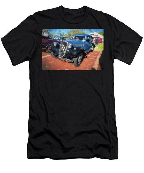 Men's T-Shirt (Slim Fit) featuring the photograph 1953 Citroen Traction Avant by Rich Franco