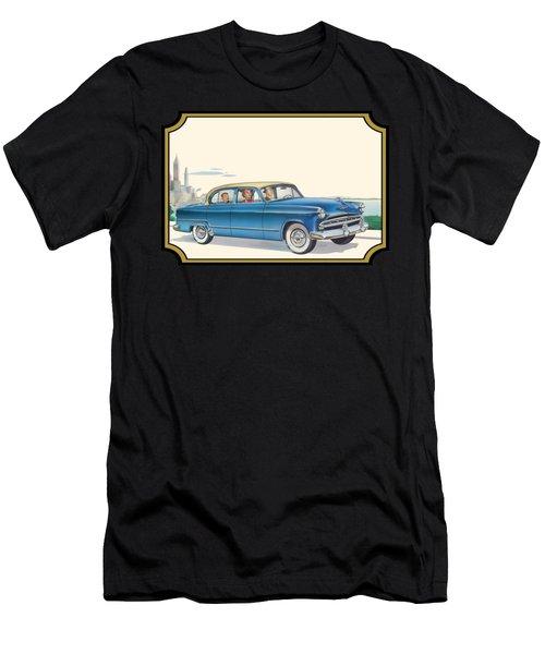 1953 Dodge Coronet Antique Car - Nostagic Americana - Vintage Tranportation Men's T-Shirt (Athletic Fit)