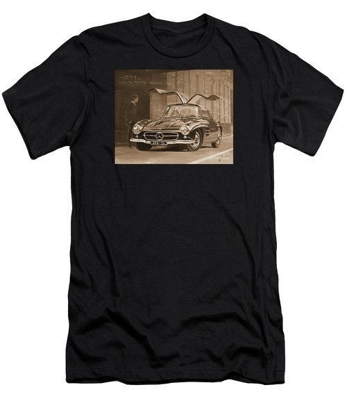 1954 Mercedes Benz 300 Sl  In Sepia Men's T-Shirt (Athletic Fit)