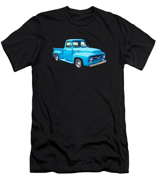 1955 Ford F100 Blue Pickup Truck Canvas Men's T-Shirt (Athletic Fit)