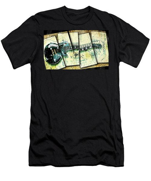 1955 Les Paul Custom Black Beauty V2 Men's T-Shirt (Slim Fit) by Gary Bodnar