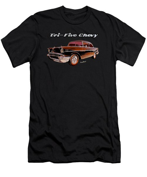 1957 Belair Two-door Sedan Men's T-Shirt (Athletic Fit)