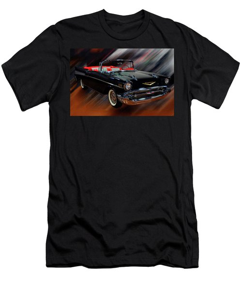1957 Chevy Bel Air Convertible Digital Oil Men's T-Shirt (Athletic Fit)