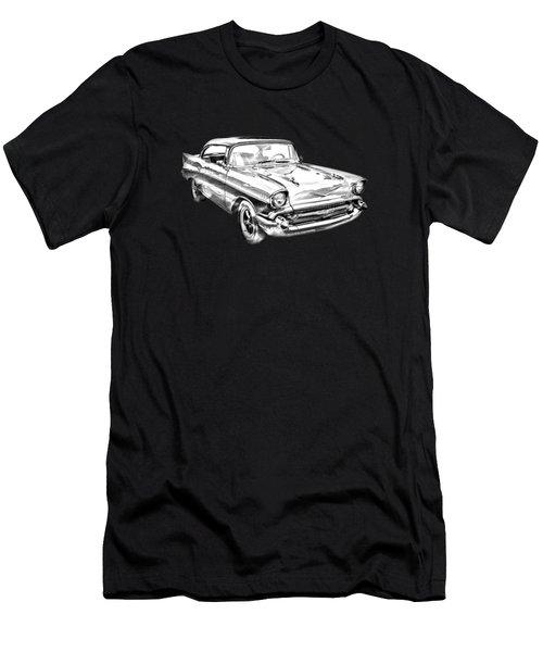 1957 Chevy Bel Air Illustration Men's T-Shirt (Athletic Fit)