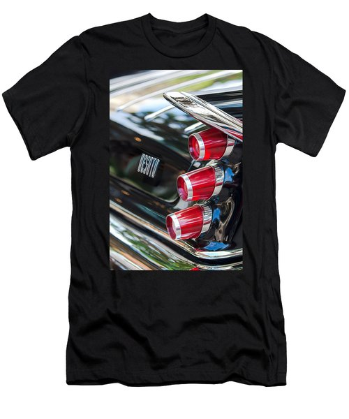 Men's T-Shirt (Athletic Fit) featuring the photograph 1959 Desoto Adventurer Hardtop Coupe 2-door Taillight Emblem by Jill Reger