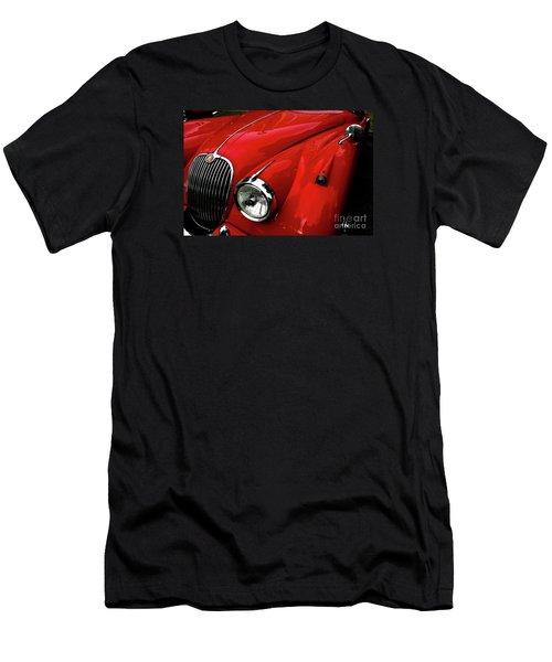 Men's T-Shirt (Slim Fit) featuring the photograph 1960s Jaguar by M G Whittingham