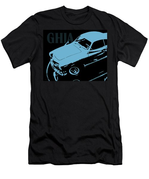 1962 Karmann Ghia Pop Art Blue Men's T-Shirt (Athletic Fit)