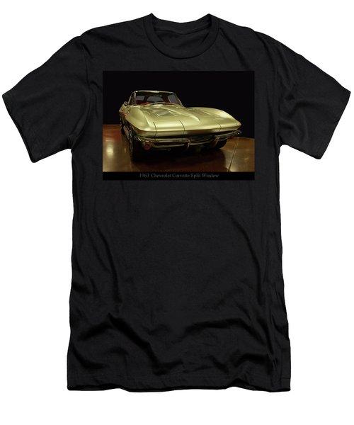 Men's T-Shirt (Athletic Fit) featuring the photograph 1963 Chevrolet Corvette Split Window by Chris Flees