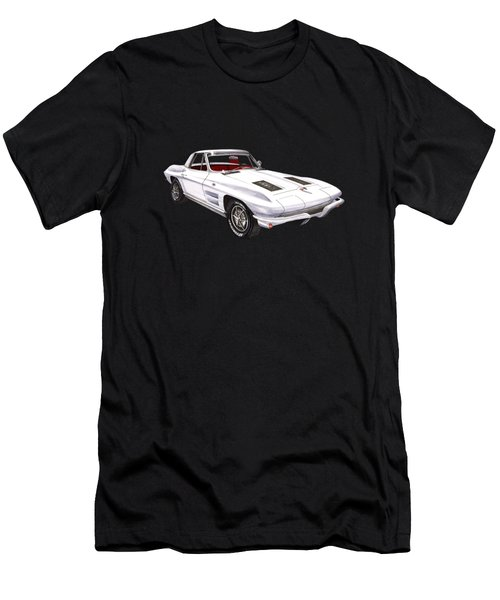 Corvette Sting Ray 1963 Men's T-Shirt (Slim Fit) by Jack Pumphrey