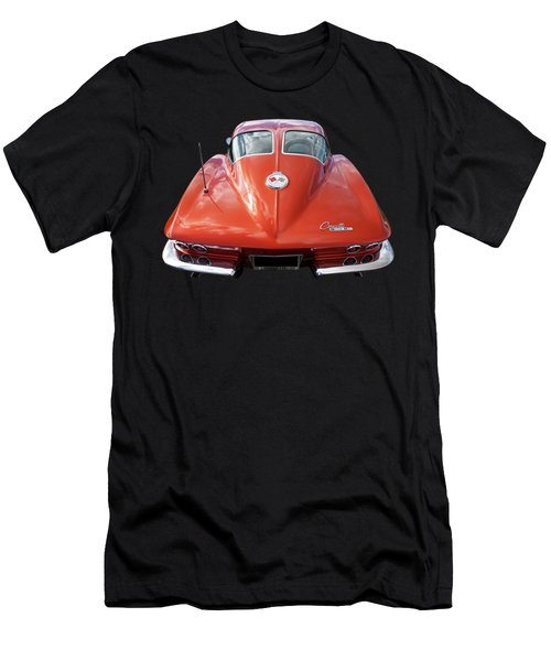 1963 Corvette Stingray Split Window Rear Men's T-Shirt (Athletic Fit)