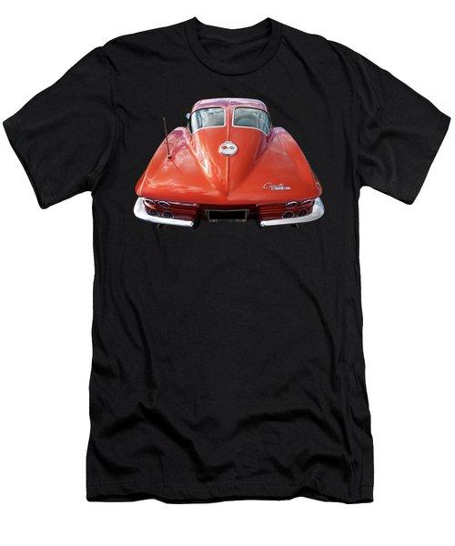 1963 Corvette Stingray Split Window Rear Men's T-Shirt (Athletic Fit)