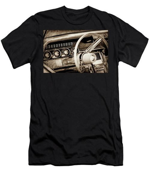 Men's T-Shirt (Slim Fit) featuring the photograph 1964 Ford Thunderbird Steering Wheel -0280s by Jill Reger