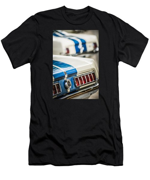 Men's T-Shirt (Athletic Fit) featuring the photograph 1965 Ford Shelby Mustang Gt 350 Taillight -1037c by Jill Reger