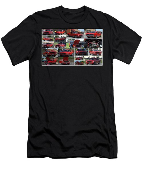 1965 Mustang Fastback Collage Men's T-Shirt (Athletic Fit)