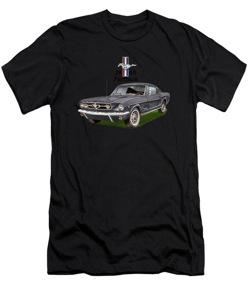 Mustang Fastback 1965 Men's T-Shirt (Athletic Fit)