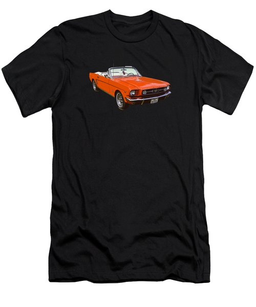 1965 Red Convertible Ford Mustang - Classic Car Men's T-Shirt (Athletic Fit)