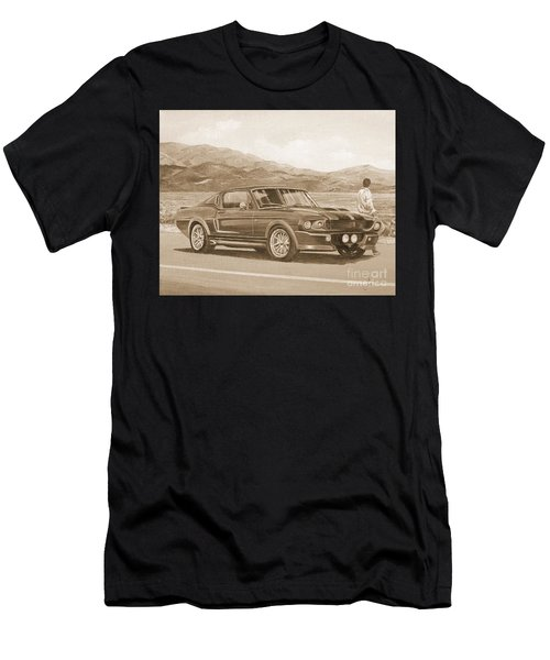 1967 Ford Mustang Fastback In Sepia Men's T-Shirt (Athletic Fit)