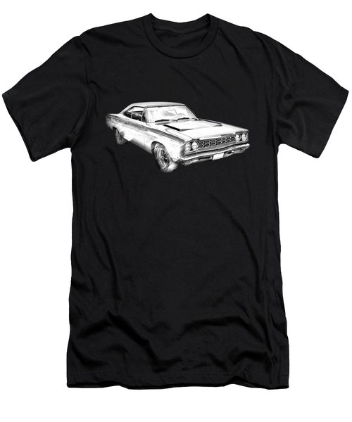 1968 Plymouth Roadrunner Muscle Car Illustration Men's T-Shirt (Athletic Fit)