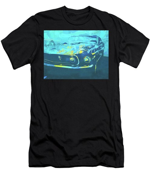 1969 Mustang Mach 1 Blue Pop Men's T-Shirt (Athletic Fit)
