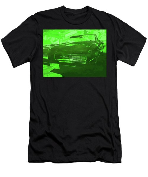 1969 Pontiac Gto Convertible Pop Green Men's T-Shirt (Athletic Fit)