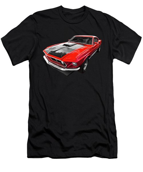 1969 Red 428 Mach 1 Cobra Jet Mustang Men's T-Shirt (Athletic Fit)