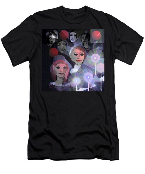 Men's T-Shirt (Slim Fit) featuring the digital art 1970 - A Ceremony by Irmgard Schoendorf Welch
