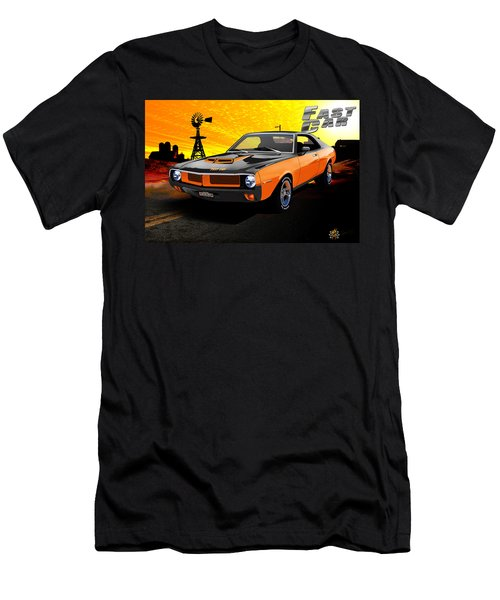 Men's T-Shirt (Athletic Fit) featuring the digital art 1970 Javelin by Doug Schramm